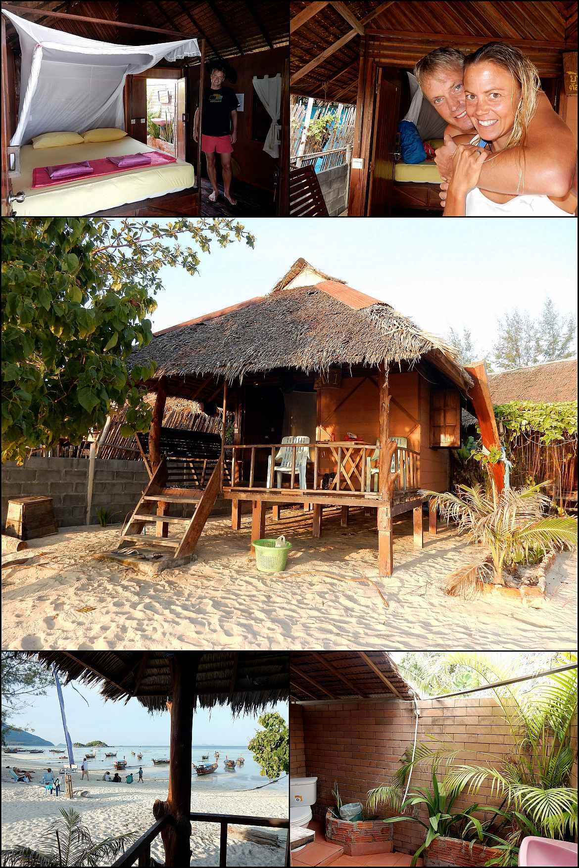 Thailand | Unsere Strandhütte direkt am Wasser am Sunrise Beach auf Ko Lipe. Verschiedene Eindrücke unsere Unterkunft Gipsy Resort