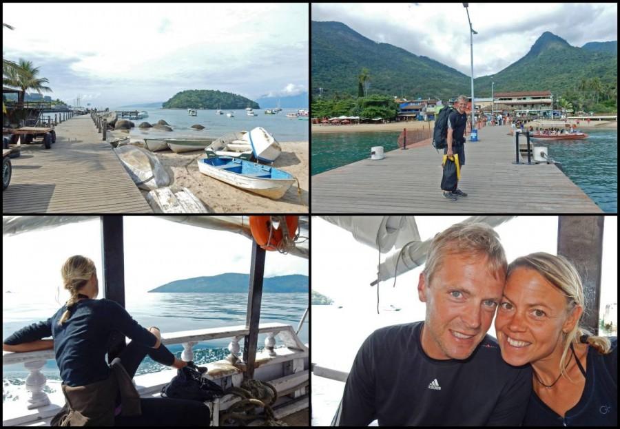 Brasilien | Ilha Grande, Bootsfahrt von Angra dos Reis nach Abraao mit dem Schoner, Collage der Überfahrt und Orte
