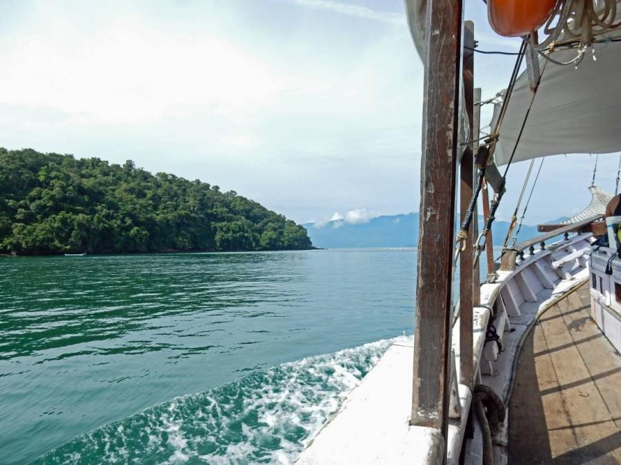 Brasilien | Ilha Grande, Der Schoner ist der langsamste, aber schönste Weg auf die Insel