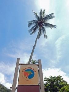Brasilien | Ilha Grande, Willkommensschild auf der Trauminsel