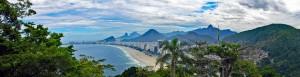 Brasilien | Rio de Janeiro, Panoramaausblick vom hochgelegenen Forte Duque de Caxias auf die Copacabana
