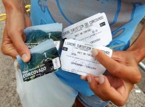 Brasilien | Rio de Janeiro, Eintrittskarten zum unter Touristen sehr beliebten Corcovado