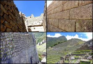 Peru | Machu Picchu, Inka-Stadt, Eindrücke der Granit- Steine, die regelmäßig geputzt werden. Verschiedene Bilder mit Steinen des Weltwunder in Nahaufnahme