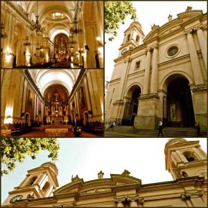 Montevideo | Sehenswürdigkeiten: Verschiedenen Ansichten der riesigen Kathedrale am Plaza Constitucion in der Ciudad Vieja