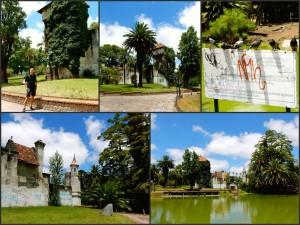 Uruguay | Montevideo, Das pittoreske Castillo im Parque Rodo vor einem grünen See