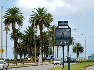 Montevideo | interessante Orte: Die Uferstraße Rambla führt über 22 km entlang der Küsten am Rio de la Plata und Atlantik. Sie ist zweispurig und teilweise von Palmen gesäumt