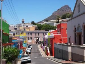 Südafrika | Kapstadt, Blick im Stadtteil Bo Kaap auf den Lions Head