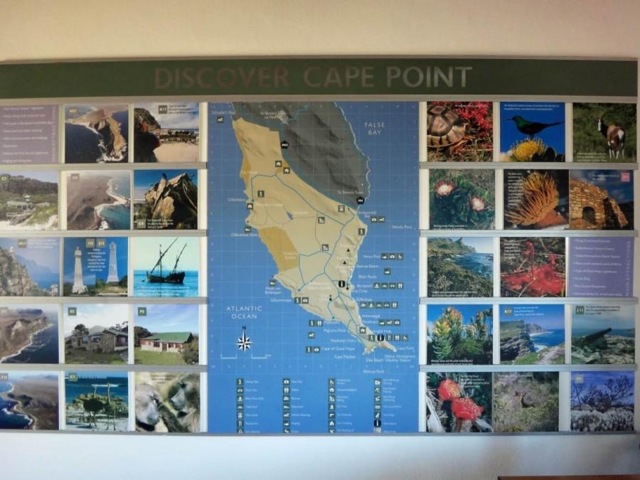 Südafrika | Kapstadt, Kap-Halbinsel, Kap der Guten Hoffnung & Cape Point National Park Karte
