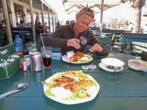 Südafrika | Kapstadt, Kap-Halbinsel, Fisch Essen in Hout Bay