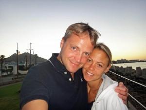 Südafrika | Kapstadt, Sonnenuntergang. Karin und Henning als Selfie