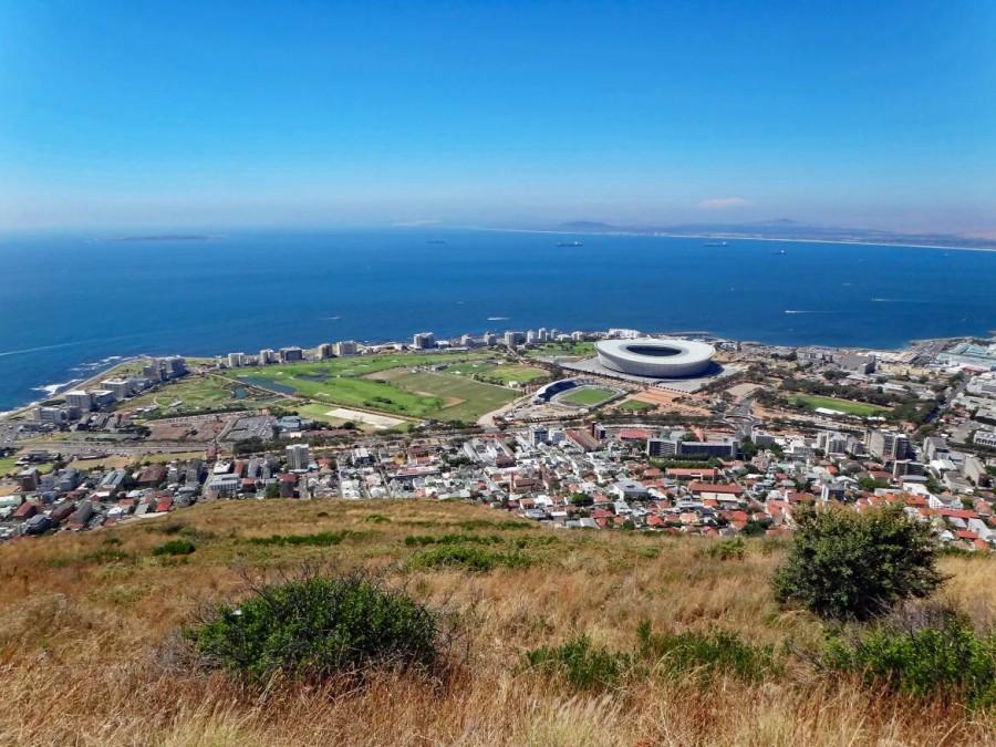 Südafrika | Kapstadt, Blick auf den Stadtteil Greenpoint mit WM Fussballstadium fotografiert vom Signal Hill