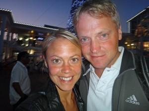 Südafrika | Kapstadt, Entspannter Abend in der V&A Waterfront. Karin und Henning als Selfie