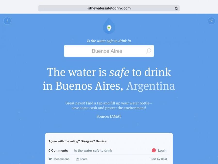 Reisesicherheit | Apps, Die Website gibt schnelle Antworten hinsichtlich der Trinkwasserqualität. Häufig nicht nur auf Länderebene, sondern auch für spezielle Städte