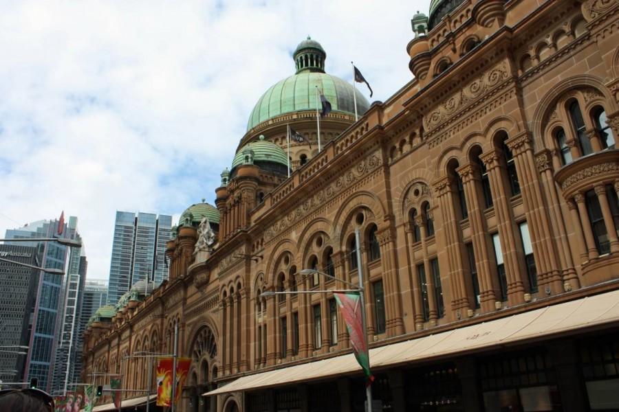 Australien | Sydney, Central Business District, Queen Victoria Building. Nahaufnahme der viktorianisch gebauten Einkaufspassage von Außen
