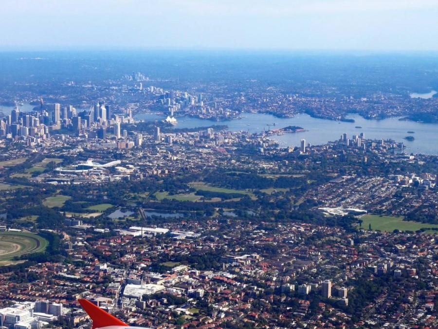 Australien | Panorama auf Sydney beim Landeanflug