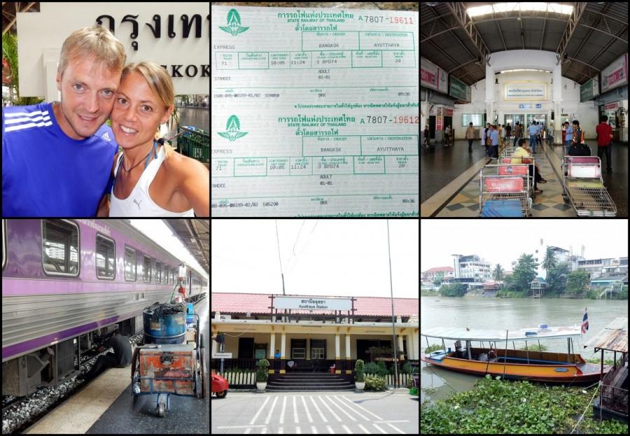 Thailand | Anreise nach Ayutthaya von Bangkok. Verschiedene Eindrücke der Zugfahrt