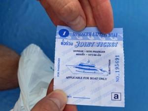 Thailand |Ticket für die Fähre von Surat Thani nach Koh Phangan von Songserm Express Boat
