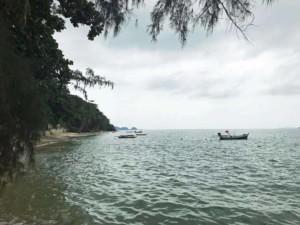 Thailand |Koh Phangan, Haad Chao Phao Strand bei Flut zur Regenzeit