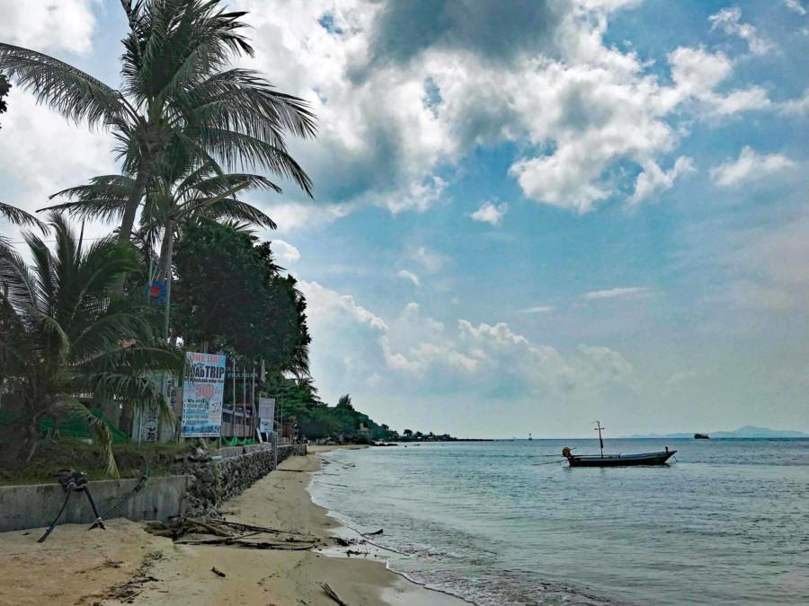 Thailand |Koh Phangan, Haad Rin Nai Strand zur Regenzeit im November