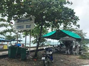 Thailand| Koh Phangan, Thongsala Songserm Pier für Fähren zum Festland und zu Inseln