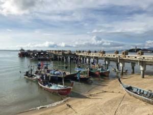 Thailand |Koh Samu, Bangrak Pier, Fähranleger, Fischerboote