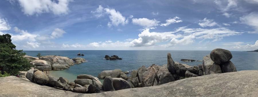 Thailand | Tipp und eine der Top-Sehenswürdigkeiten und Highlights auf Koh Samui: Panorama an den Hin Ta Hin Yai Rocks auch Großmutter & Großvater genannt auf Koh Samui