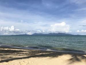 Thailand |Blick von Koh Samui am Maenam Beach bis zur Insel Koh Phangan