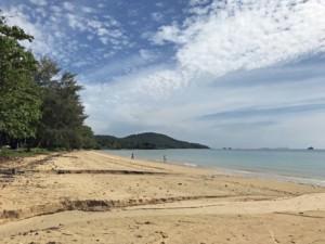 Thailand |Klong Muang Beach, Blick auf den Strand in der Nähe von Krabi