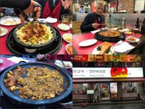 Einer unserer Tipps: Chicken Galbi Restaurant im Stadtteil Insadong. Eindrücke von der Zubereitung des Essen am Tisch
