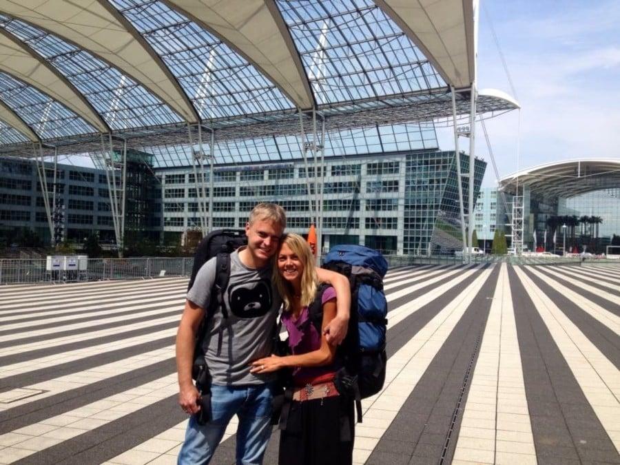Abflug in München zu unserer Weltreise