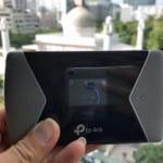 Test TP-Link M7650 | Bild des Wifi-Routers vor einer Moschee in Hongkong