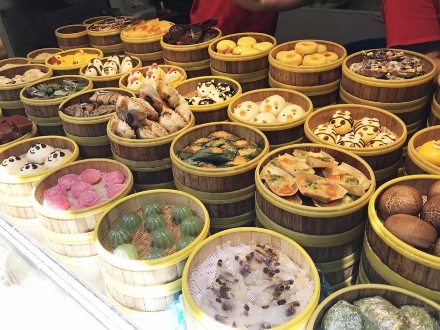 Mantou, Brot Variationen haben verschiedne Formen und Farben in China