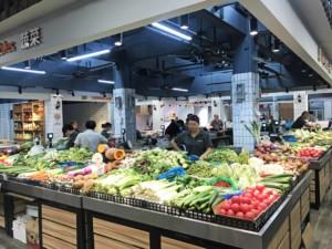 Obst- und Gemüse auf dem Markt in Shanghai