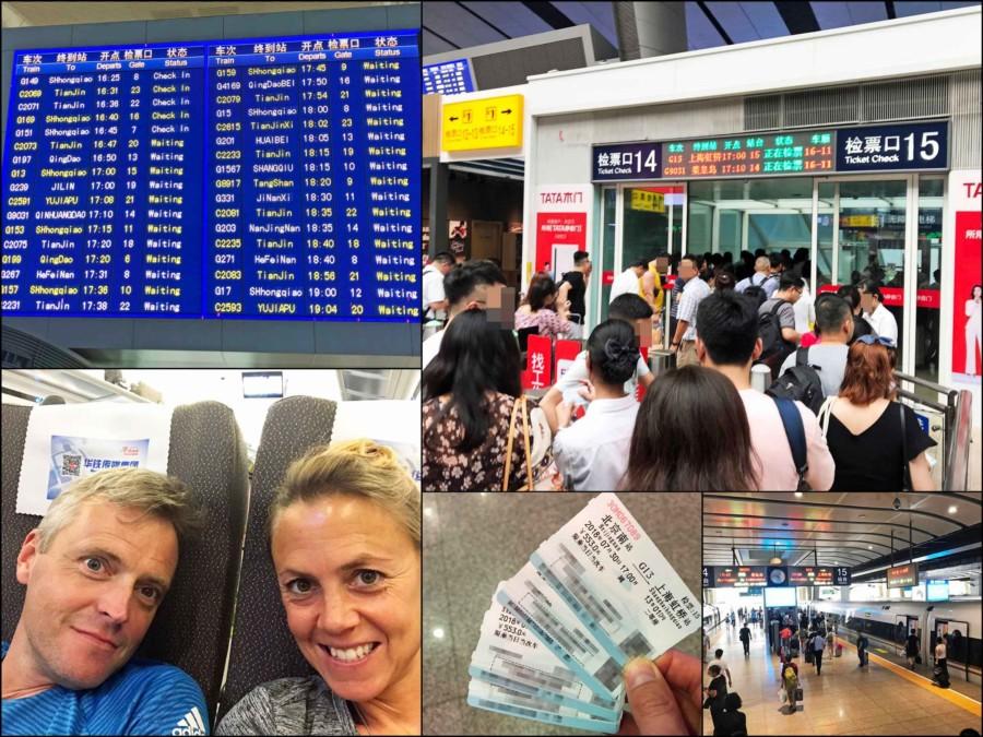Fortbewegung Stadt Peking: Fahrt mit dem Zug von Peking nach Shanghai