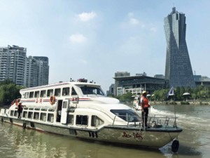 Interessante Orte in Hangzhou: Fahrt im Wassertaxi oder Wasserbus auf dem Kaiserkanal