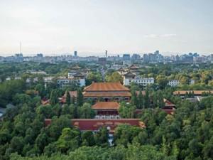 Ausblick im Jingshan Park Richtung Norden