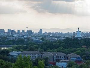 Ausblick vom Jingshan Park Richtung Hauptstadt Peking