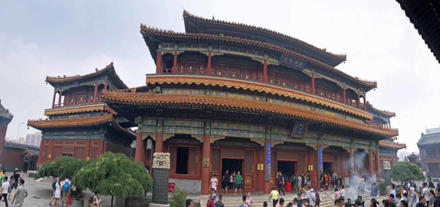 Panorama im Lama Tempel, Yonghegong in Peking