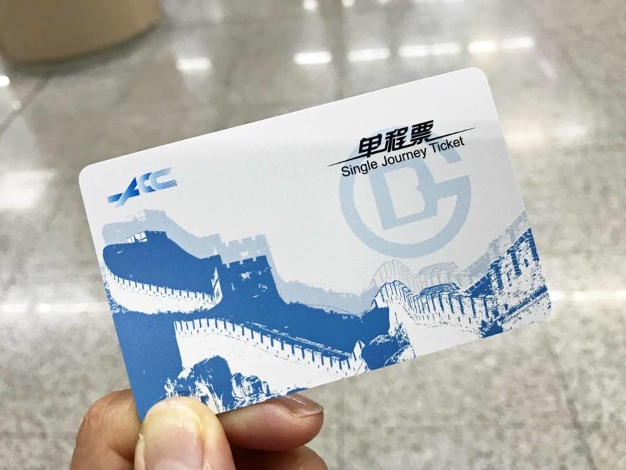 Fortbewegung Stadt Peking: Metro Einzelticket