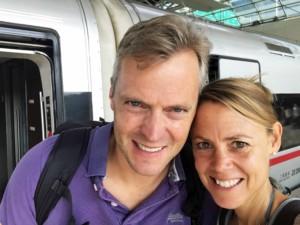 Zugfahrt nach Peking: Selfie von Karin und Henning