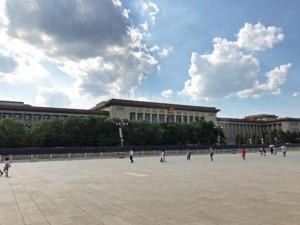 Große Halle des Volkes auf der Westseite des Tiananmen Platz