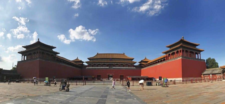 Guide der Hauptstadt Peking: Verbotene Stadt Eingang im Süden Panorama
