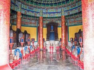 Tempel von Innen innerhalb der Verbotenen Stadt