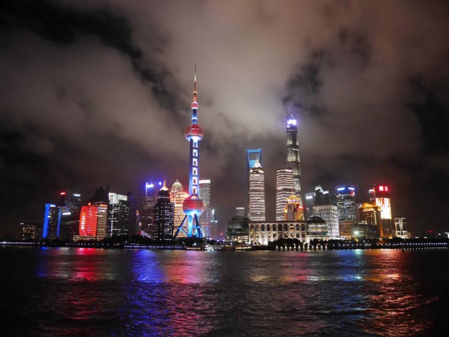 Beste Aussicht auf Pudong vom Bund aus