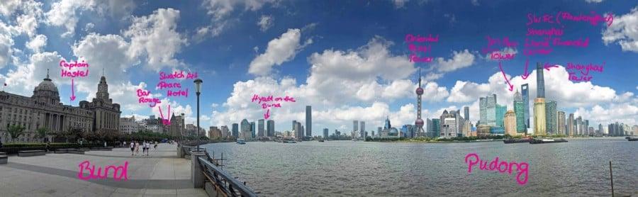 Übersicht der Aussichtsplattformen und Aussichtspunkte in Shanghai