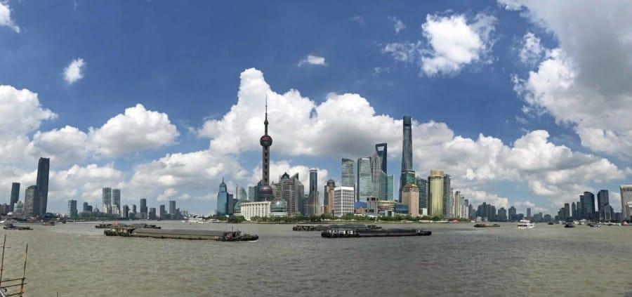 Shanghai liegt am Fluss Huangpu