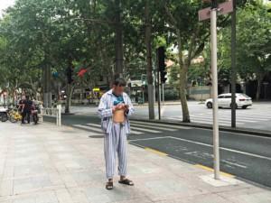 Im Pyjama durch Shanghai