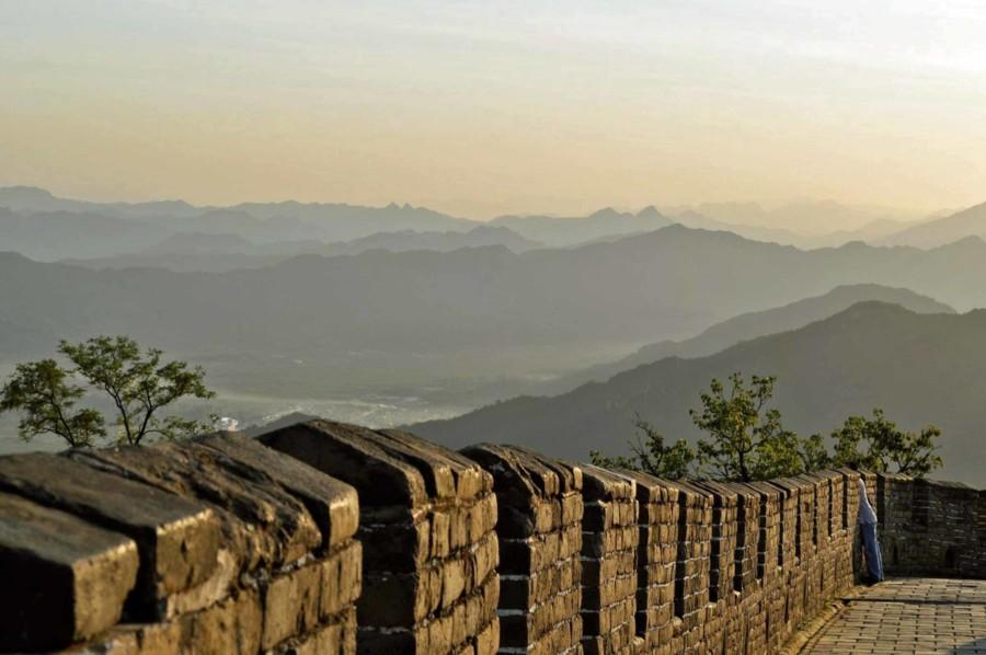 Abschnitt Jinshanling bei Sonnenuntergang