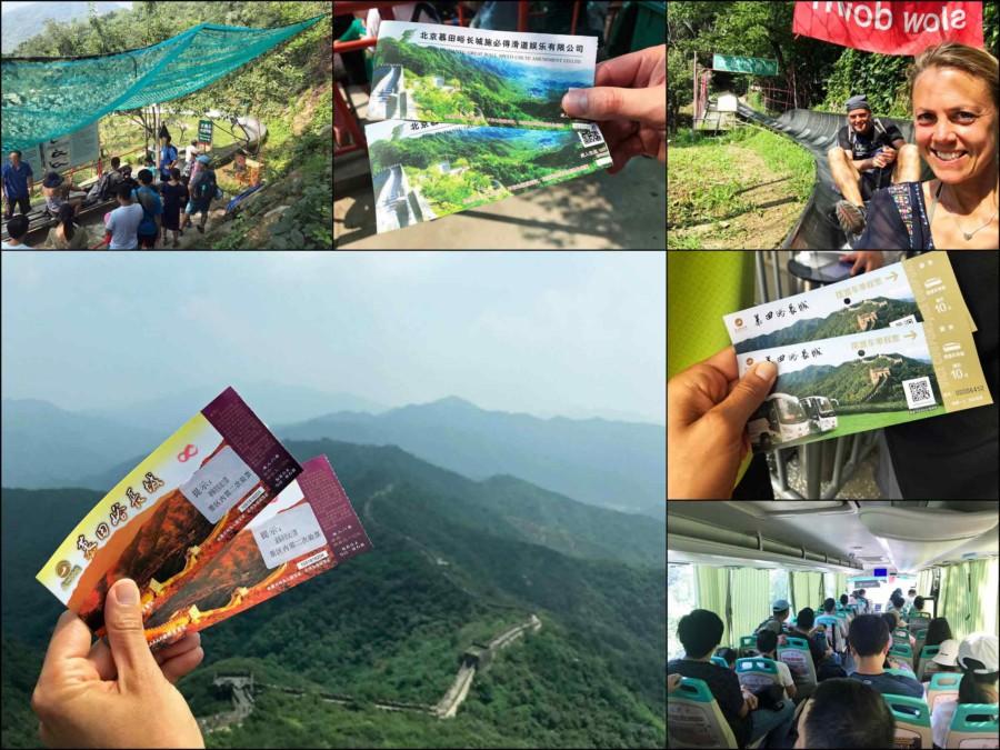 Große Mauer Peking Abschnitte Chinesische Mauer Länge: Bei Privaten Touren von Jiankou nach Mutianyu sind die Tickets für den Eintritt zusätzliche zu bezahlen
