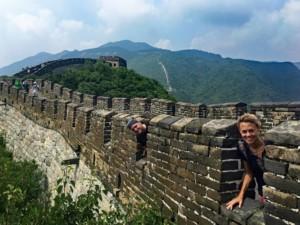 Spaß hatten wir bei unserer Tour auf der Chinesischen Mauer mit Private Guide Jonny, hier in Mutianyu